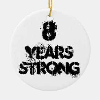 8 anos de ornamento forte da celebração da