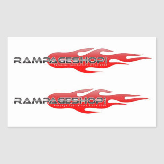 8 decalques/etiquetas médios - logotipo de adesivo retangular