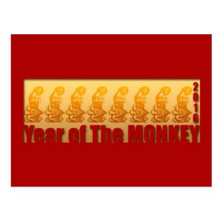 8 macacos para o cartão 2016 chinês do ano novo