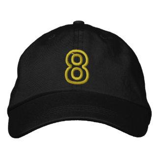 """""""8"""" número atlético pequeno boné bordado"""