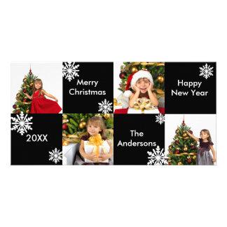 8H esquadra a neve branca preta - cartões de foto Cartão Com Foto