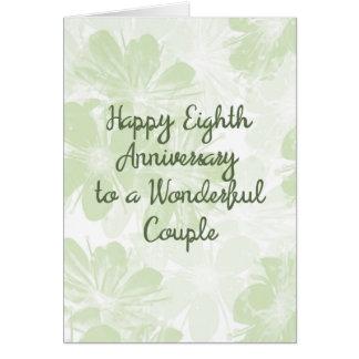 8o Flores do verde do cartão do aniversário de