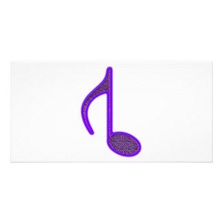 8o Grande invertido da nota musical criado 2010 Cartões Com Foto Personalizados