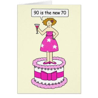 90 são o humor novo do aniversário da idade de 70 cartão comemorativo