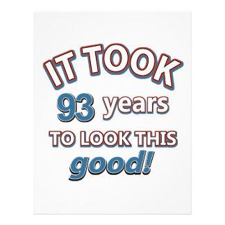 93rd festa de aniversário do ano papel de carta