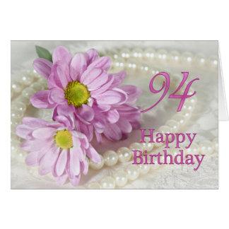 94th Cartão de aniversário com margaridas