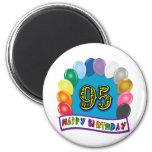 95th aniversário feliz com balões imã de geladeira