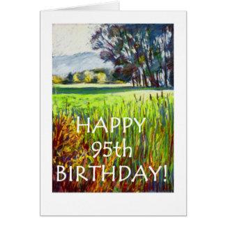 95th Cartão de aniversário - noite nos prados