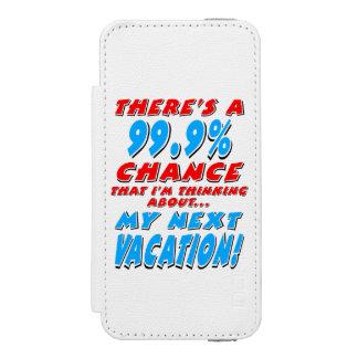 99,9% As PRÓXIMAS FÉRIAS (preto) Capa Carteira Incipio Watson™ Para iPhone 5