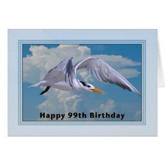 99.o Cartão de aniversário com o pássaro real da