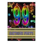 99.o Convite de aniversário com bolhas
