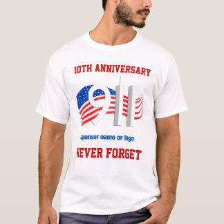 9/11 - 11 de setembro - NY patrocinou camisetas do