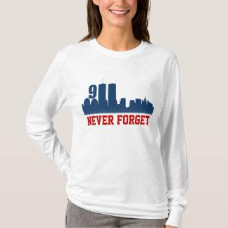 9/11 de WTC - Nunca esqueça o camiseta