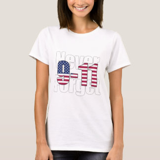 9-11 nunca esqueça camiseta