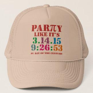 9:26 final do chapéu do boné do dia do Pi 2015