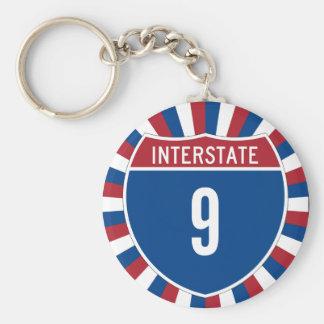 9 de um estado a outro chaveiro