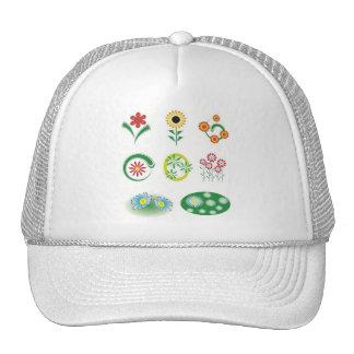 9 flores do vetor boné