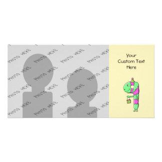 9o Aniversário. Desenhos animados brilhantes e col Cartão Com Foto