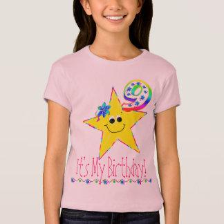 9o Estrelas do smiley da camisa da festa de