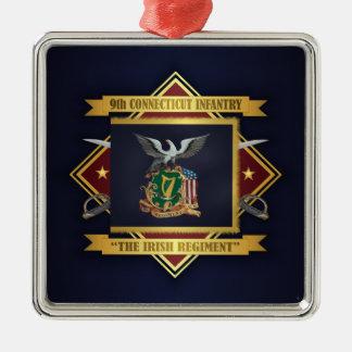 9o Infantaria voluntária de Connecticut Ornamento De Metal