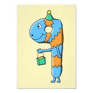 9o Monstro dos desenhos animados do aniversário Convite 8.89 X 12.7cm