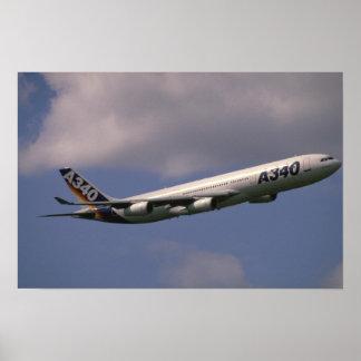 A-340 Airbus, avião de passageiros europeu Poster