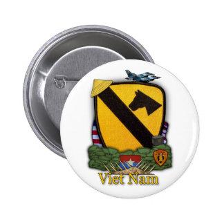 a ?a divisão Vietnam da cavalaria controla o botão Bóton Redondo 5.08cm