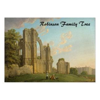A abadia de St Mary, York, Inglaterra cerca de Cartão De Visita Grande