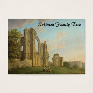 A abadia de St Mary, York, Inglaterra cerca de Cartão De Visitas