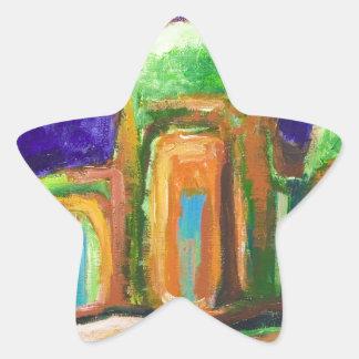 A abadia na selva (paisagem abstrata) adesivos em forma de estrelas