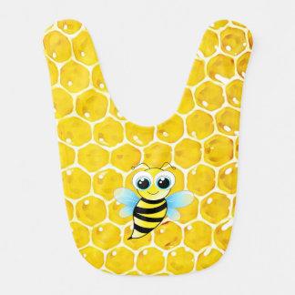 A abelha Bumble o babador do bebê do favo de mel