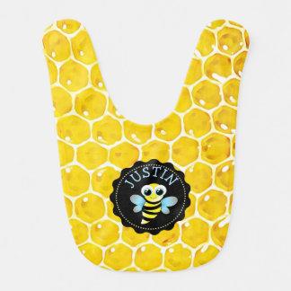 A abelha personalizada Bumble o babador do bebê do