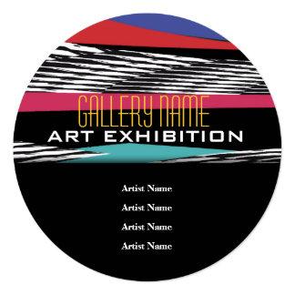 A abertura da exposição da galeria da mostra de convite quadrado 13.35 x 13.35cm