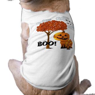 A abóbora dirige t-shirt do cão do Dia das Bruxas Camisa Sem Mangas Para Cachorro