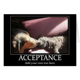 A aceitação inspira o cartão