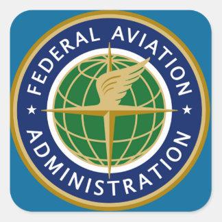 a Administração Federal de Aviação do faa Adesivo Quadrado