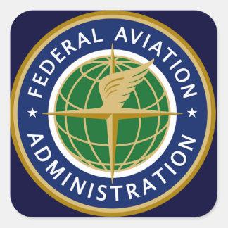 a Administração Federal de Aviação FAA Adesivo Em Forma Quadrada