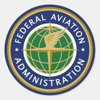 A Administração Federal de Aviação FAA Adesivos Em Formato Redondos