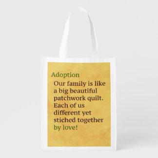 A adopção é uns retalhos sacola ecológica