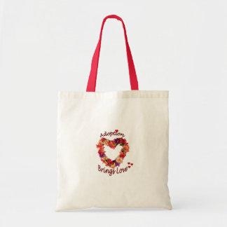 A adopção traz o saco do amor bolsa tote