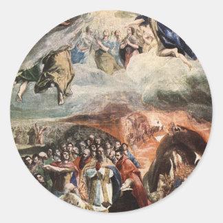 A adoração do nome de Jesus por El Greco Adesivo