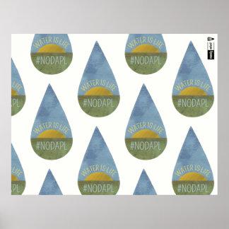 A água é vida NENHUM poster de DAPL