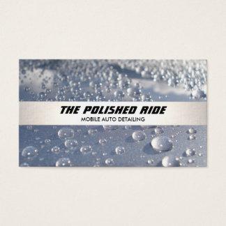 A água perla a auto listra de prata de detalhe cartão de visitas