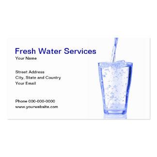 A água presta serviços de manutenção ao cartão de cartão de visita