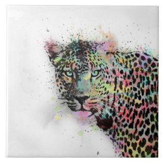 A aguarela animal do leopardo legal splatters a