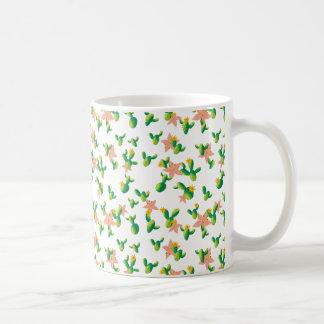 A aguarela bonita bonito floresce o cacto do caneca de café