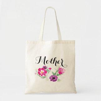 A aguarela do dia das mães floresce o bolsa