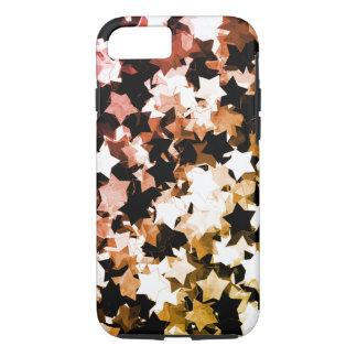 A aguarela Kawaii vermelho Stars a noite de Capa iPhone 7
