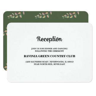 A aguarela ramifica cartões da recepção de