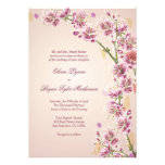 A aguarela roxa do Lilac floresce o convite do cas